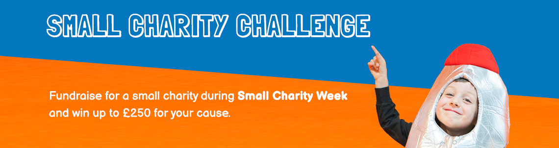 small charity challenge banner